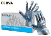 Jednorázové rukavice ČERVA PE DUCK BLUE - modré
