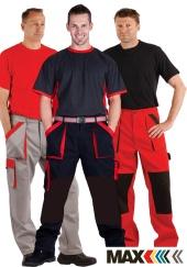 Montérkové kalhoty do pasu MAXI COLOUR