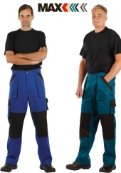 Montérkové kalhoty do pasu MAX CLASSIC - prodloužené