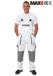 Montérkové kalhoty s laclem MAX WHITE