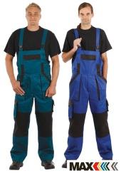 Montérkové kalhoty s laclem MAX CLASSIC - prodloužené