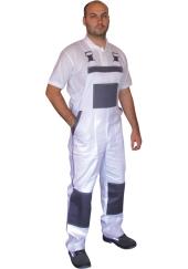 Kalhoty s laclem CXS LUX - bílo/šedé