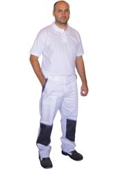 Kalhoty do pasu CSX LUX - bílo/šedé