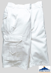 Kalhoty krátké PORTWEST PAINTERS - bílé