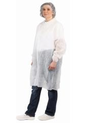 Jednorázový plášť z netkané textilie BAT- bílý