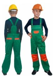 Dětské montérky - kalhoty s laclem