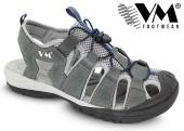 Treková obuv VM AUSTIN outdoorové sandále - šedé
