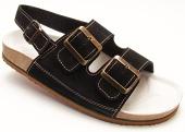 Pracovní obuv P3H sandály dvoupáskové pánské - černé