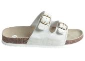 Pracovní obuv korkové pantofle dámské - bílé