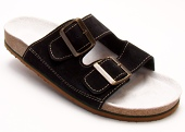 Pracovní obuv P2H pantofle dvoupáskové pánské - černé