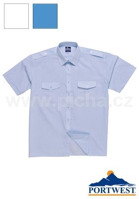 Košile PORTWEST S101 PILOT - krátký rukáv   Pracovní oděvy - Košile   787225165f