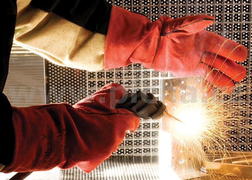 371413e263d Svářečské rukavice ČERVA SANDPIPER RED - velikost 12   Pracovní ...