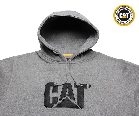 eccb57e4e75 Mikina CATERPILLAR SWEATSHIRT CAT s kapucou - šedá   Pracovní oděvy ...