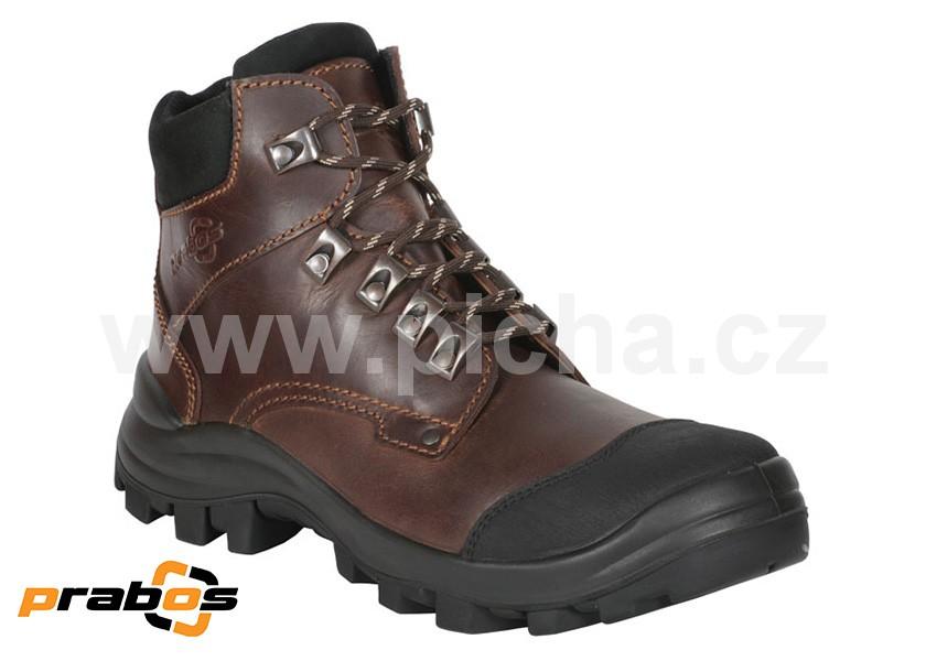 4cb2712359a Pracovní obuv PRABOS FARM-B Farmářka kotníková - hnědá   Pracovní ...
