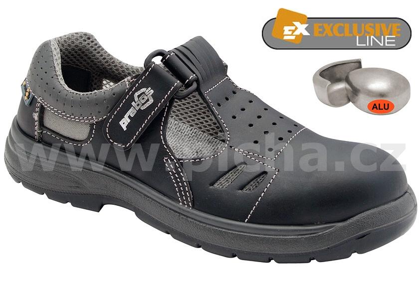 Pracovní obuv PRABOS RICHARD sandály O1 - černé   Pracovní obuv ... c2cf4900726
