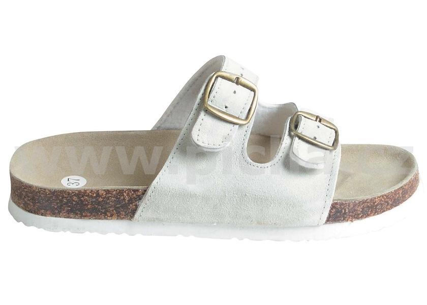 8911a01ebb8 Pracovní obuv korkové pantofle dámské - bílé   Pracovní obuv ...
