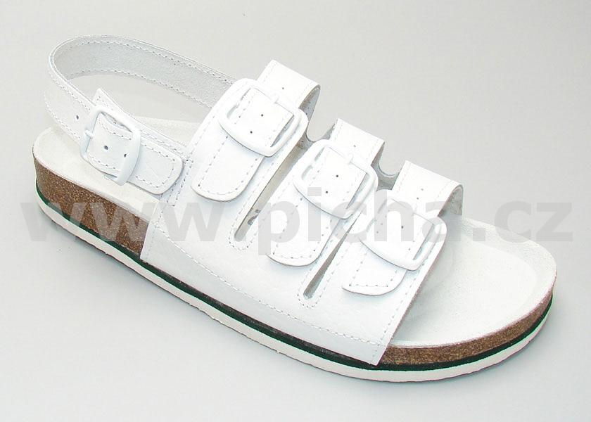 Pracovní obuv D1H sandály třípáskové dámské - bílé   Pracovní obuv ... 12c06e5457