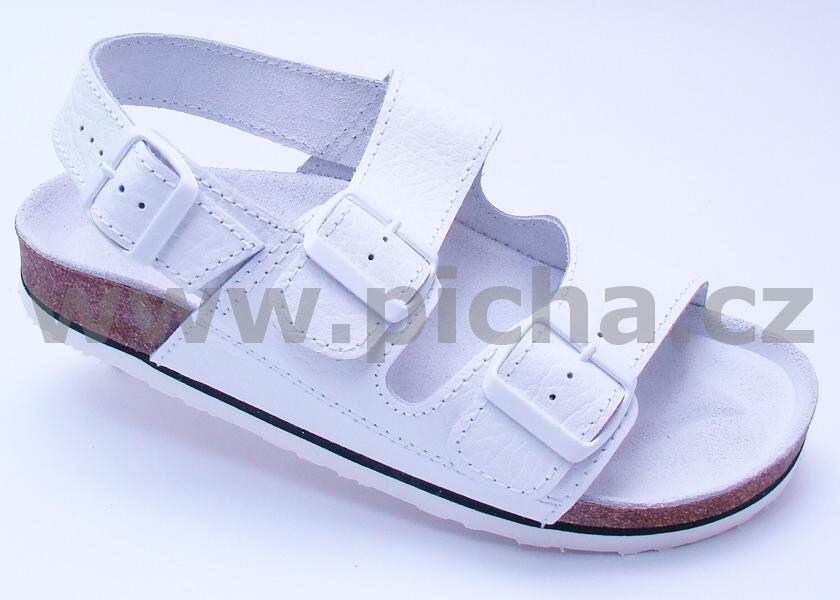 Pracovní obuv D3H sandály dvoupáskové dámské - bílé   Pracovní obuv ... ee04c4a7d4
