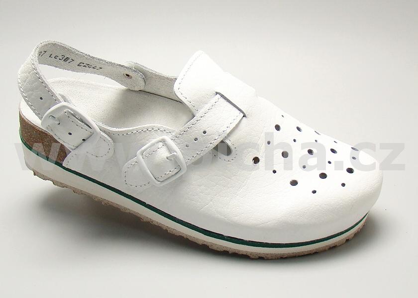 425bea0620e Pracovní obuv D8HK sandály dámské s klínkem   Pracovní obuv - Bílá ...