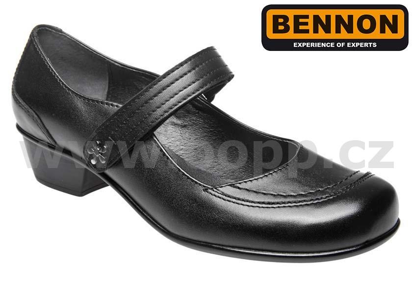 Dámské vycházkové polobotky BENNON BNN VIOLA - černé   Pracovní obuv ... 81c3426c98